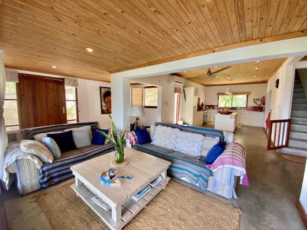 vast living-room overlooking Indian Ocean