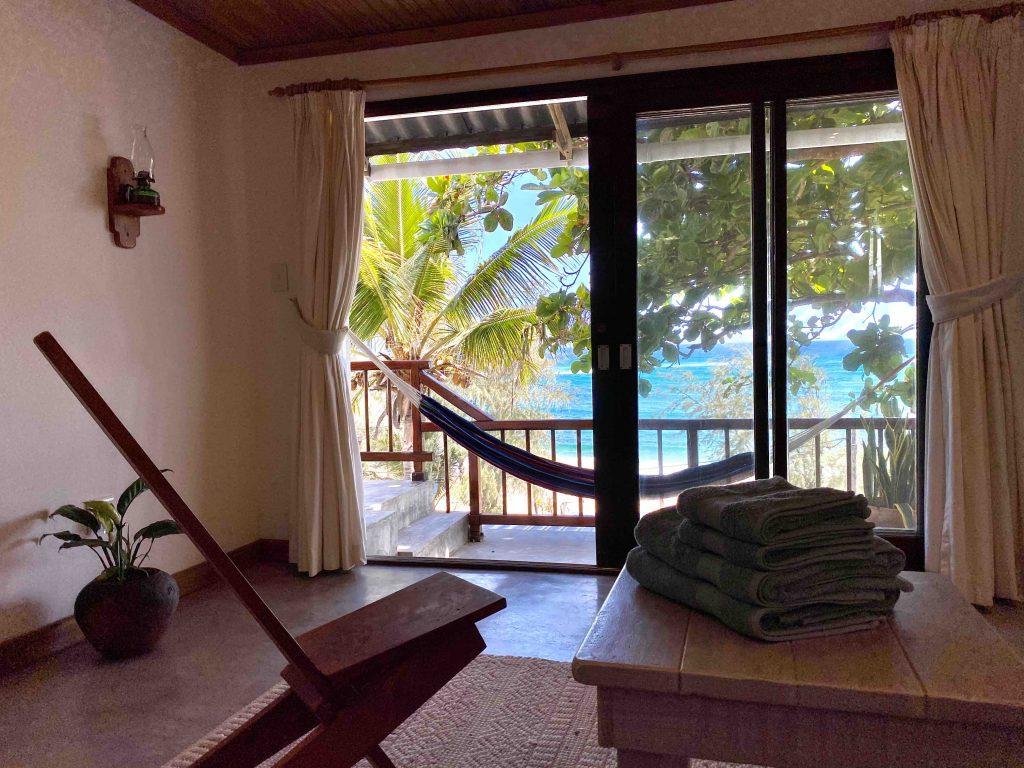 view from master bedroom towards Indian Ocean